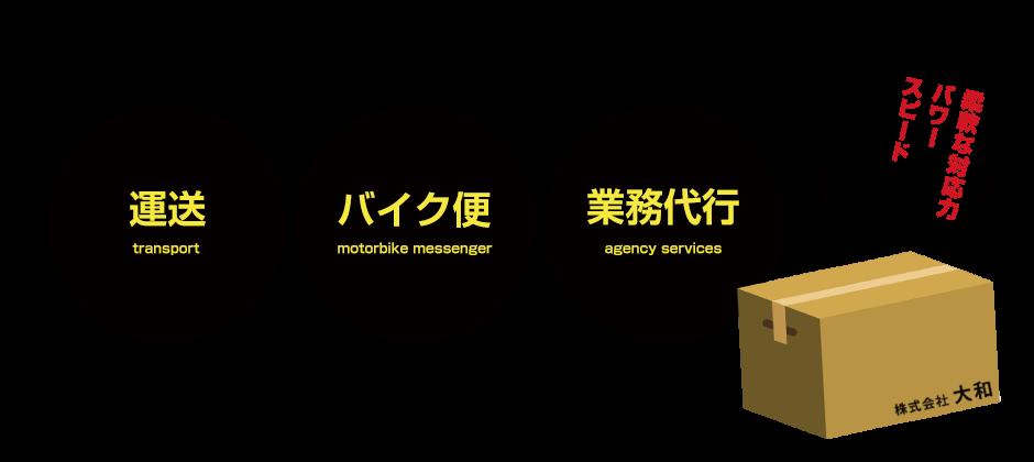 運送・チャーター便・バイク便・業務代行なら埼玉県和光市の株式会社大和